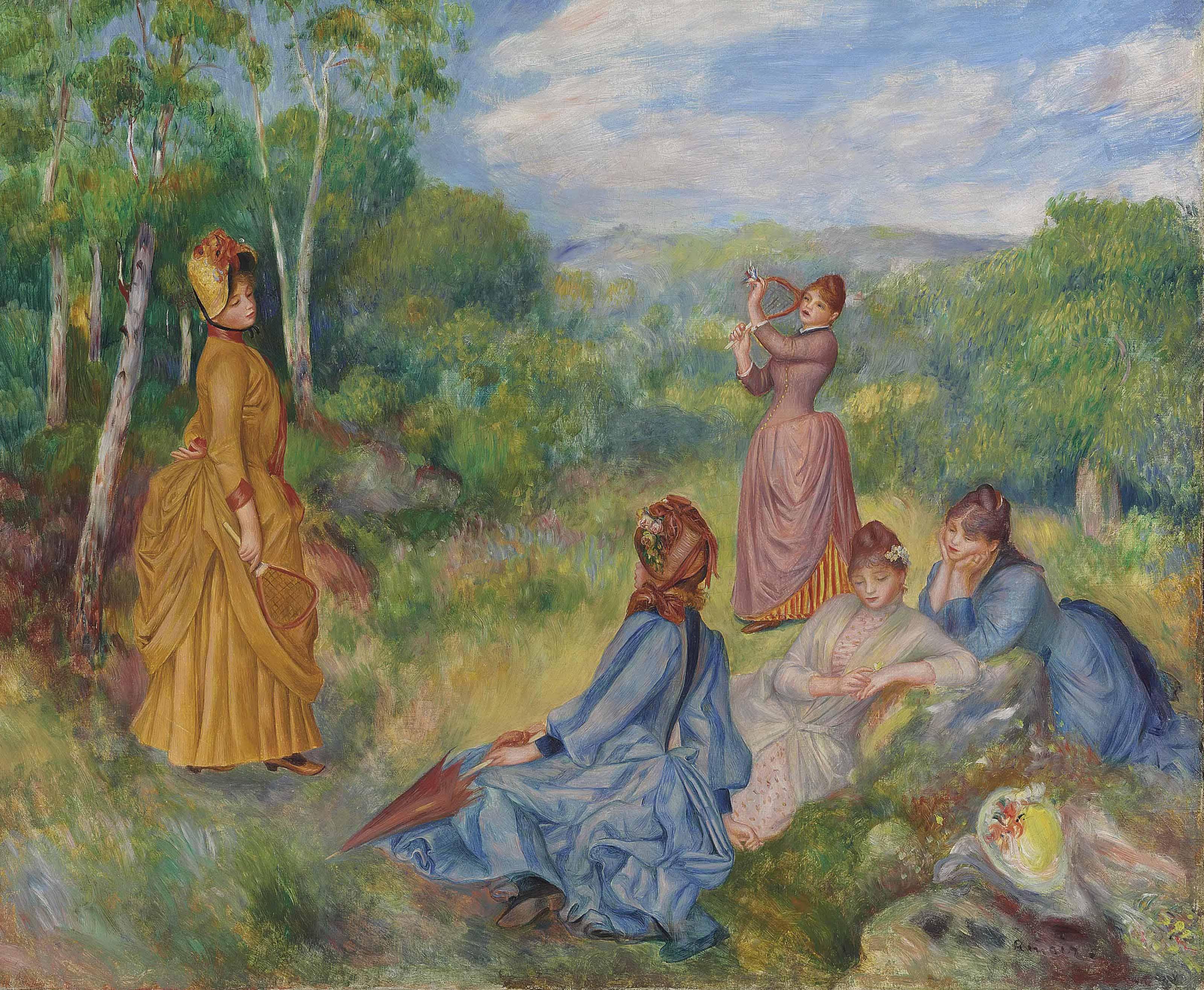 Pierre Auguste Renoir 1841 1919 Jeunes Filles Jouant