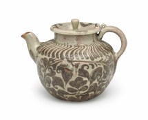 Iron-decorated Celadon Ewer Goryeo Dynasty 12th-13th
