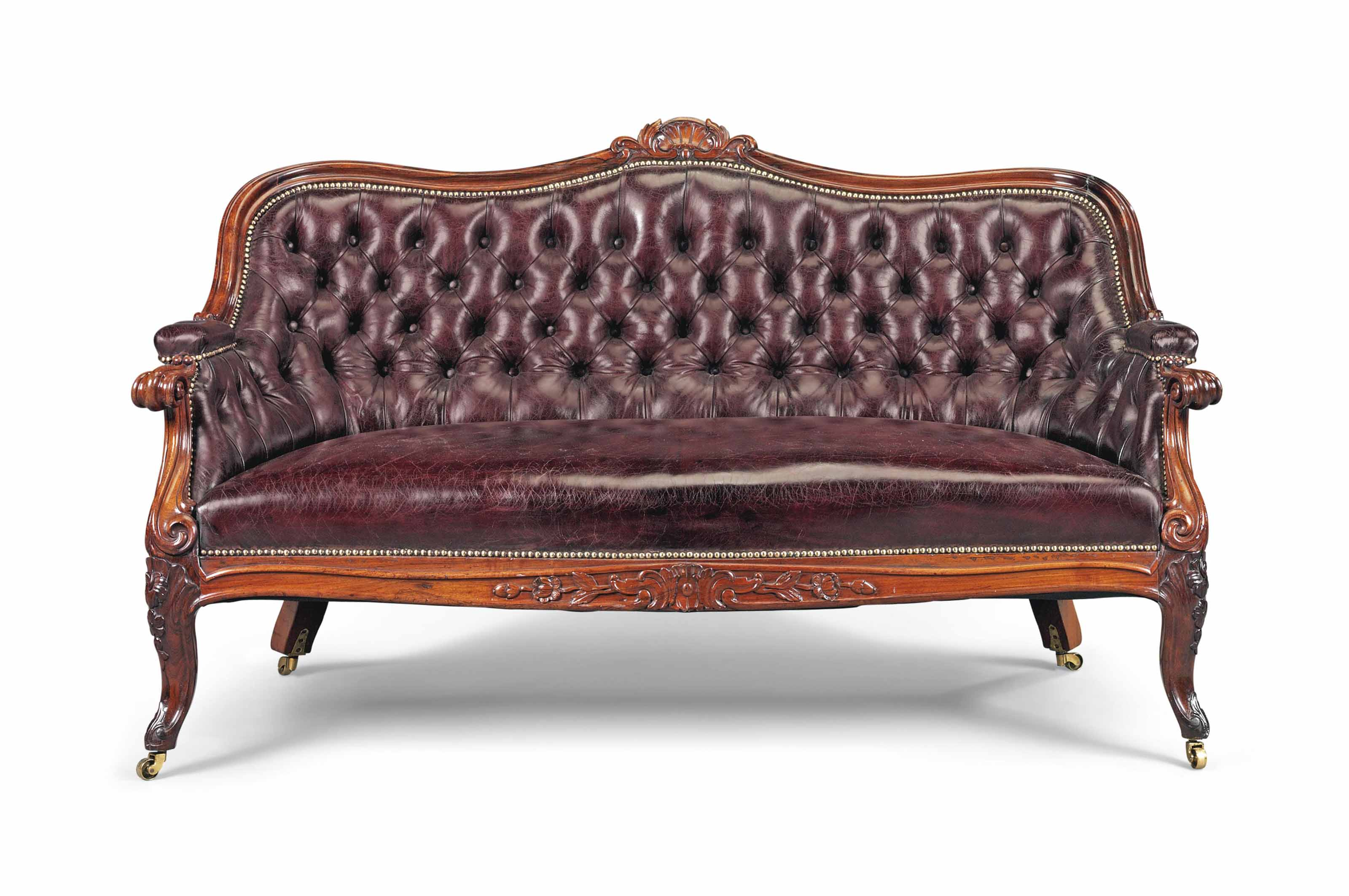 sofa rose wood brown leather sectional sofas a victorian rosewood serpentine third quarter 19th