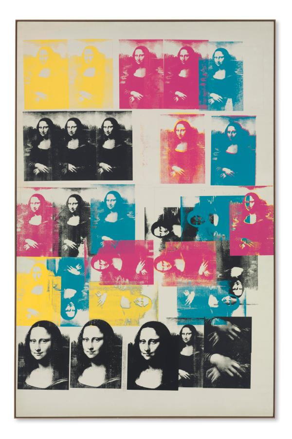 Andy Warhol 1928-1987 Colored Mona Lisa Christie'