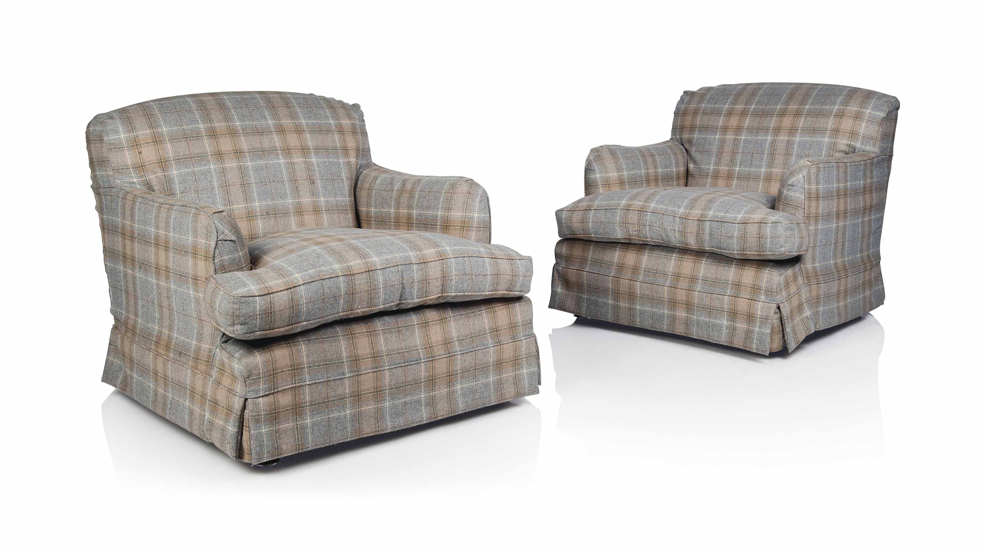 loose covers for queen anne chairs folding futon chair a pair of large easy armchairs modern in the manner