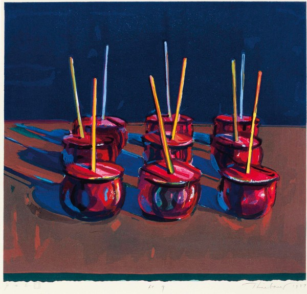 Wayne Thiebaud . 1920 Candy Apples Christie'
