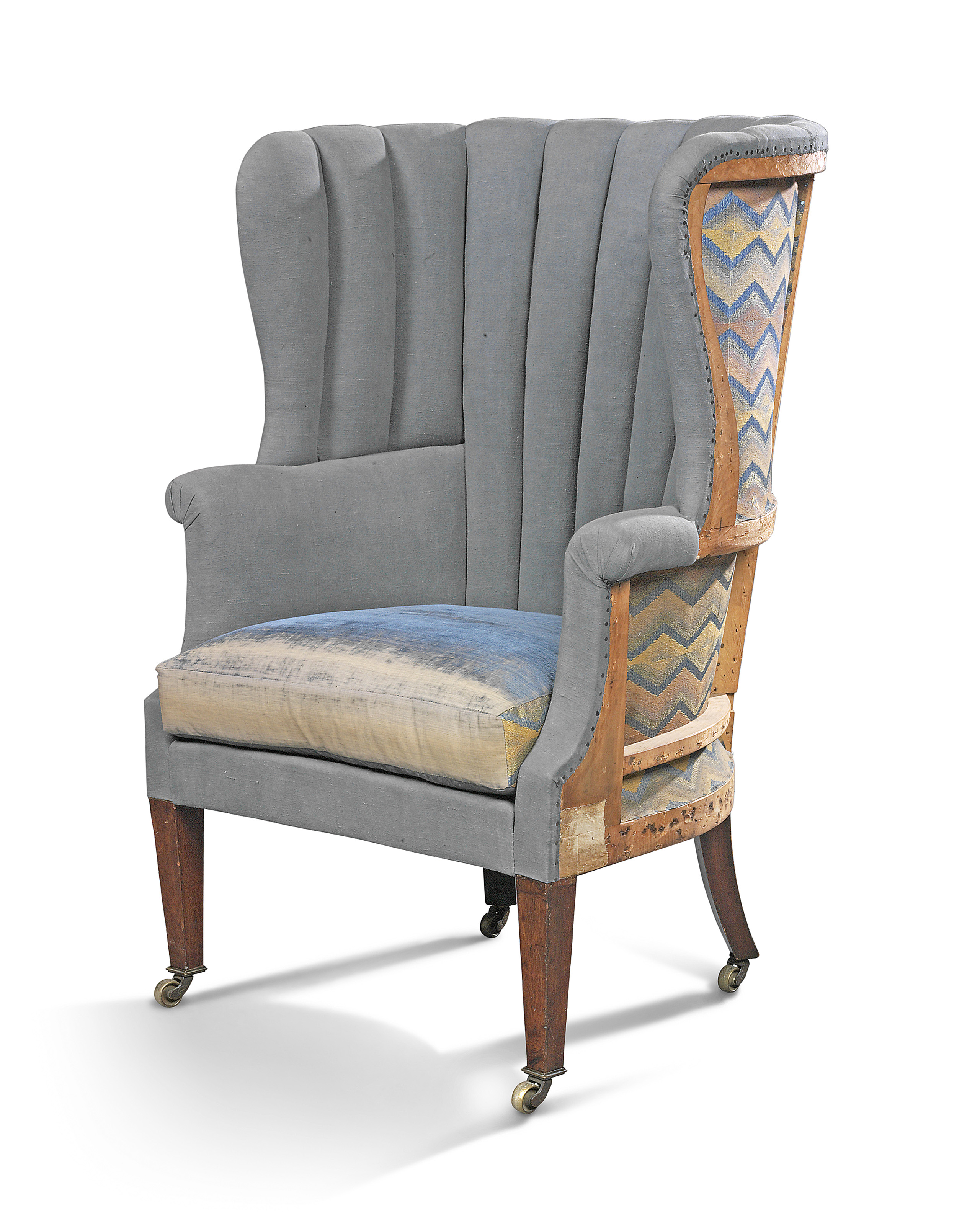 A Mahogany Barrel Back Wing Armchair Early 20th Century Armchair Furniture Lighting Christie S