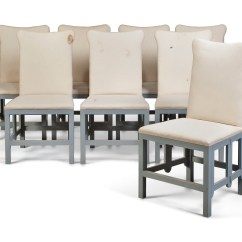 Grey Painted Chairs Outdoor Concert Lawn A Set Of Eight Folding Side Late 20th Century
