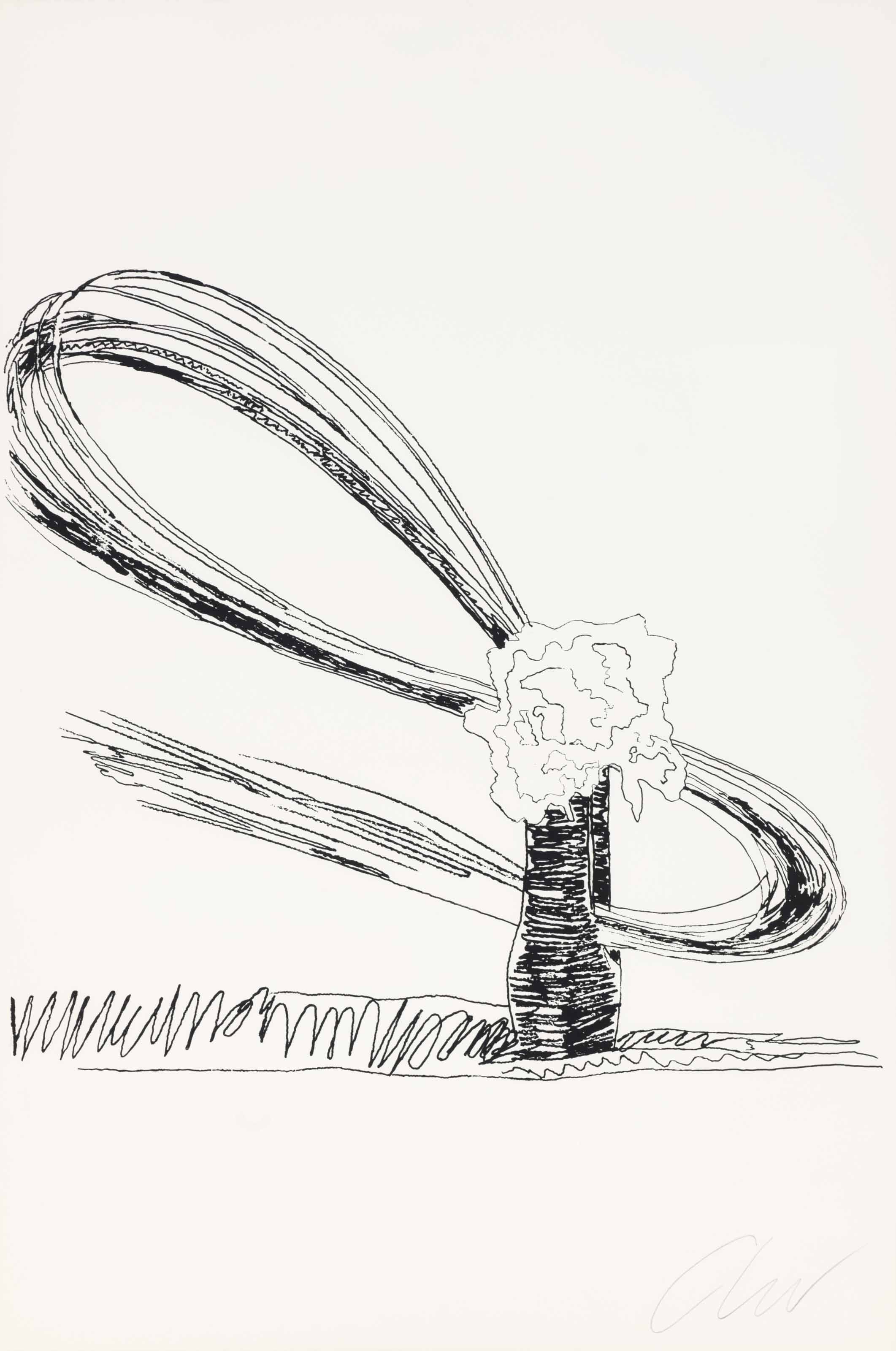 ANDY WARHOL (1928-1987) , Flowers (Black and White): one