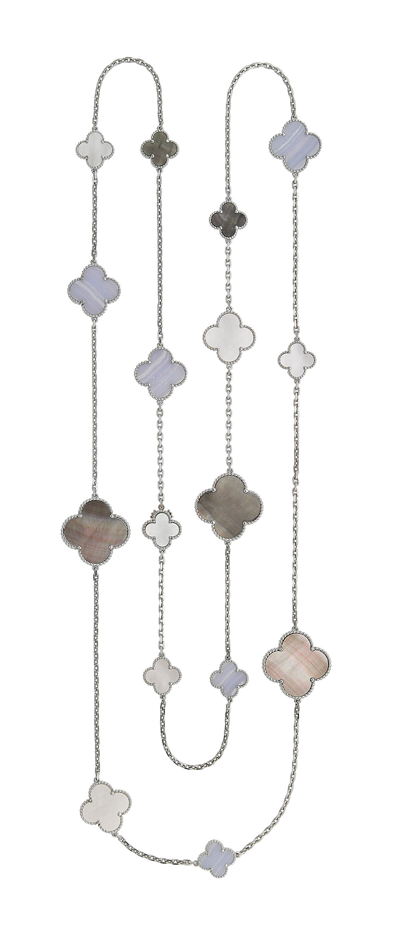 MOTHER-OF-PEARL AND AGATE 'MAGIC ALHAMBRA' LONGCHAIN