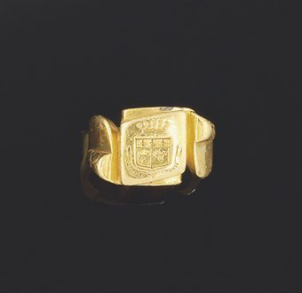 A late 19th century gold signet ring