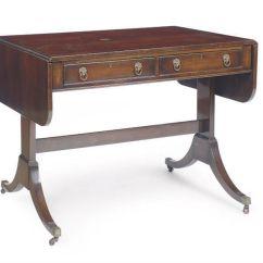 Regency Mahogany Sofa Table Custom Leather Sofas A Style 20th Century