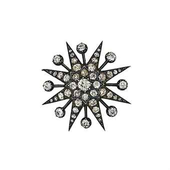 A late 19th century diamond star brooch