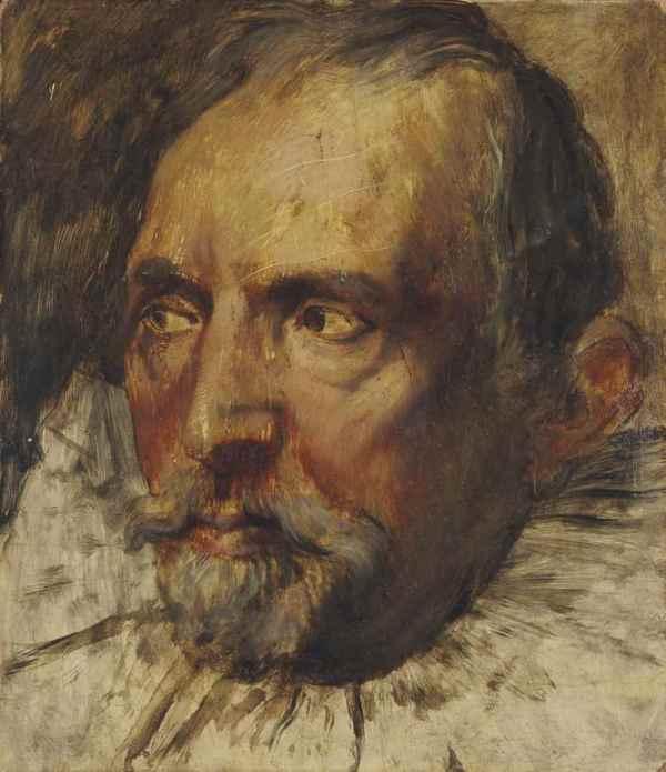 Edgar Degas 1834-1917 Portrait 'homme 'apr Matre Flamand Christie'