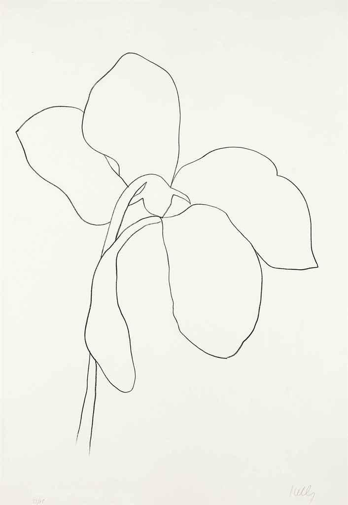 ELLSWORTH KELLY (1923-2015) , Cyclamen III, from Suite of