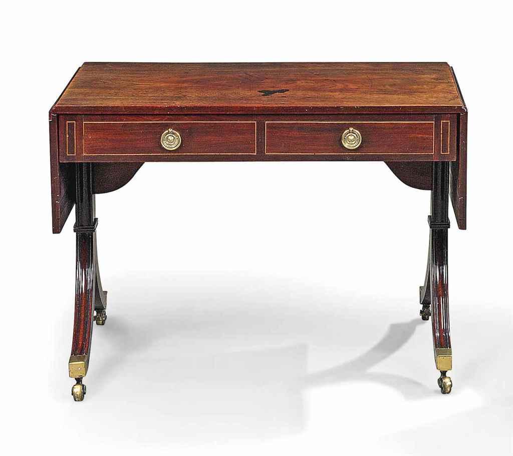 regency mahogany sofa table collins lazy boy a early 19th century