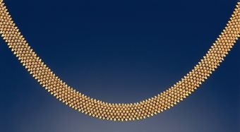 A late 19th century Etruscan revival necklace