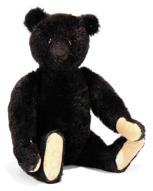 Steiff Black Teddy Bear 5325 2 Jointed Mohair
