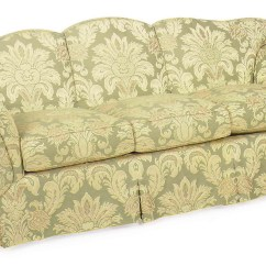 Green Floral Sofa Inserts A And Yellow Upholstered Modern