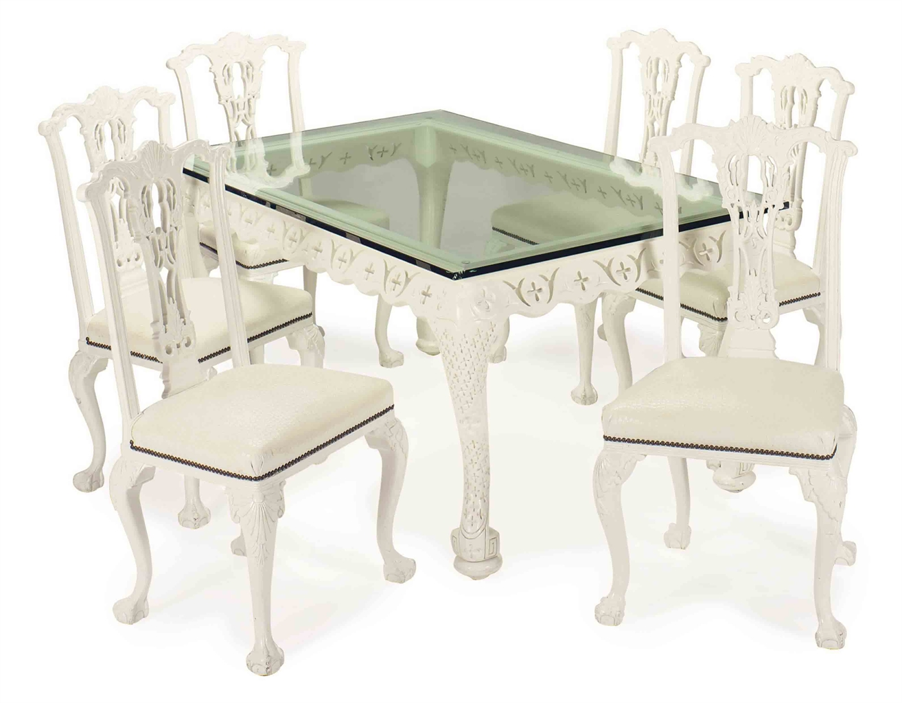 white painted table and chairs dorm room bed bath beyond a contemporary glass top dining