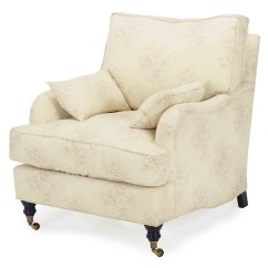 Cream Club Chair Louis Xv Style Armchair A Pair Of Patterned Cotton Upholstered Chairs