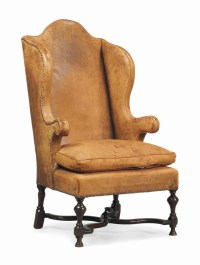 A WILLIAM AND MARY WALNUT WING ARMCHAIR | LATE 17TH ...