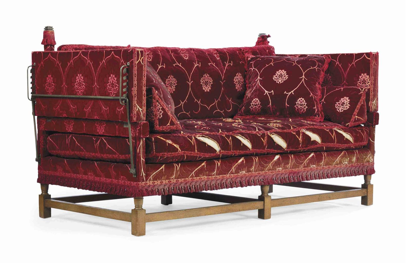 knole sofa futon sleeper an english oak 39knole 39 circa 1900 by morant and co