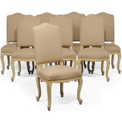 Cream Upholstered Dining Chairs Office Chair Without Wheels India A Set Of Eight Painted And