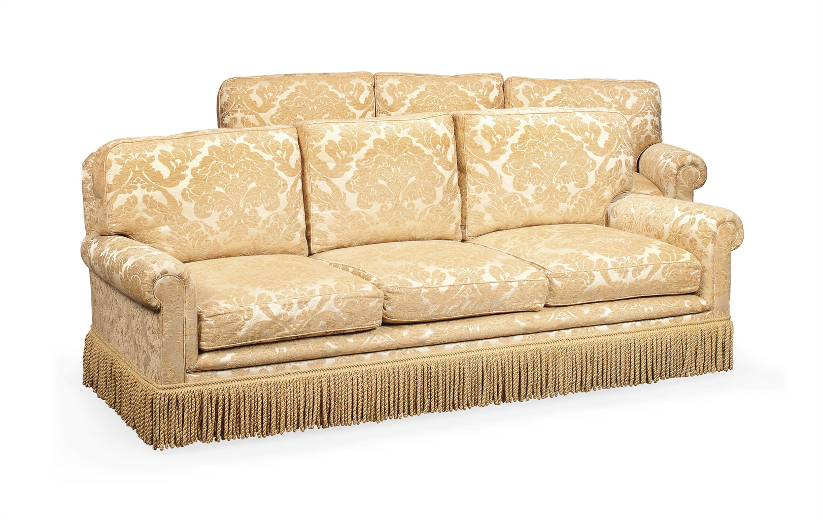 kingcome sofa sale wood furniture designs a pair of cream and buff damask sofas by late
