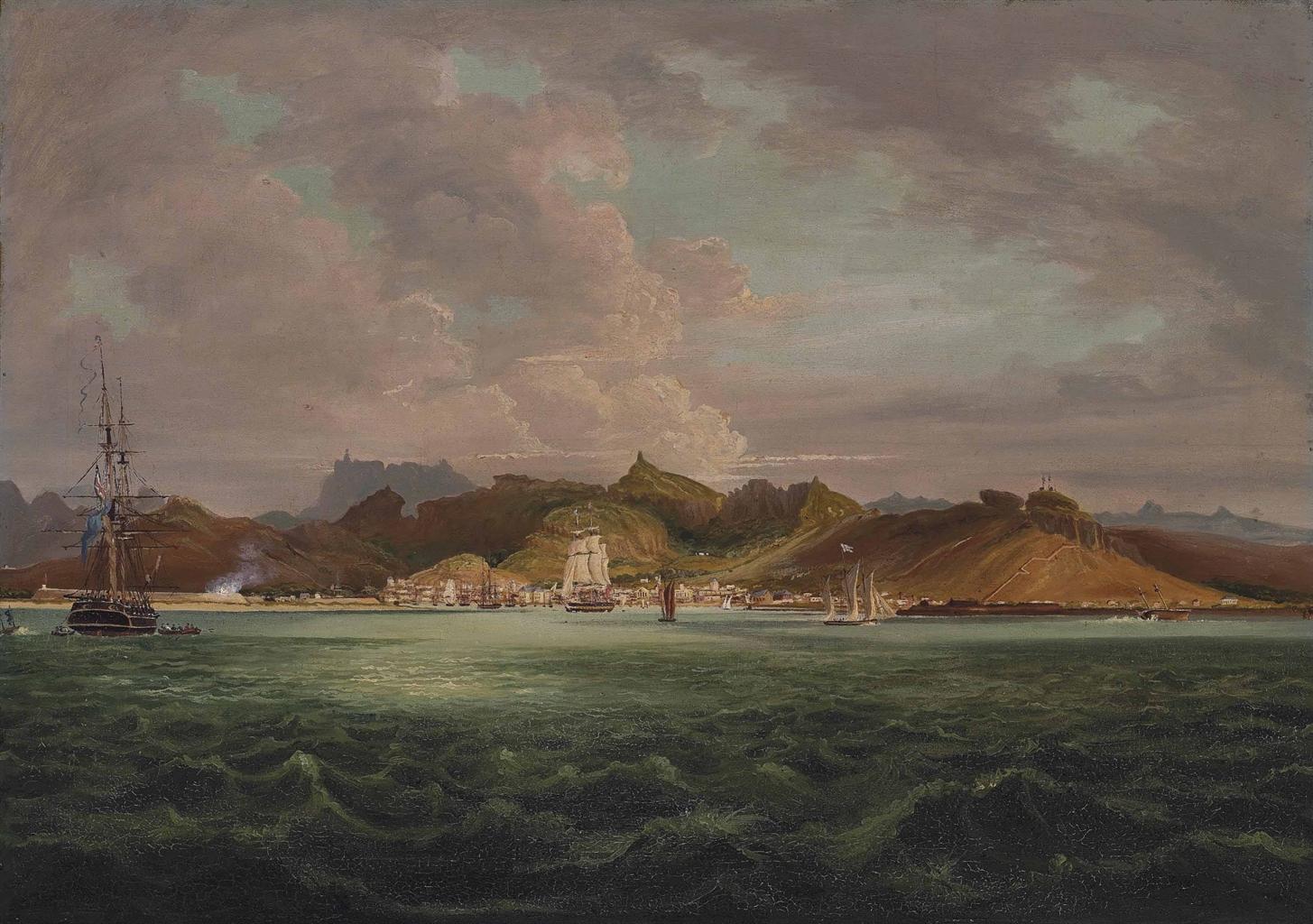 William Hodges RA 17441797  Port Louis Mauritius  Books  Manuscripts Auction