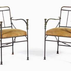 Chair Design Iron Yellow Side Giacometti S Gift To Coco Chanel Christie Diego 1902 1985 A Pair Of Pommeaux De Canne Armchairs