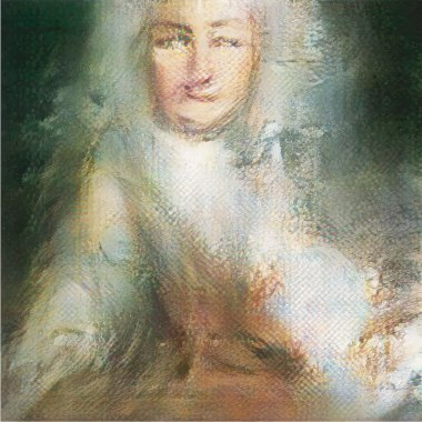 Portrait of Le Comte de Belamy, 2018, head of the fictitious Belamy family (and Edmond de Belamys great grandfather) created by the GAN 'mind' © Obvious