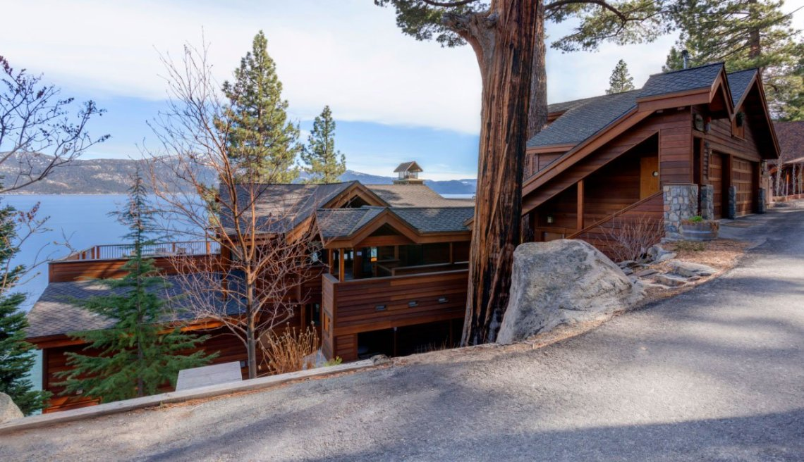 <b>US$8,300,000<br/>5 Bedrooms, 5,000 sq. ft.</b><br/>This wonderful lakefront home in Incline Village on the north shore of Lake Tahoe, was beautifully remodeled in 2002 using exotic woods, dramatic lighting, and refined finishes. The current owners designed the spaces to incorporate stunning panoramic views of Lake Tahoe and the Sierra Nevada from every room. A main level master, game room, wine cellar, and elevator are among the sensational amenities.