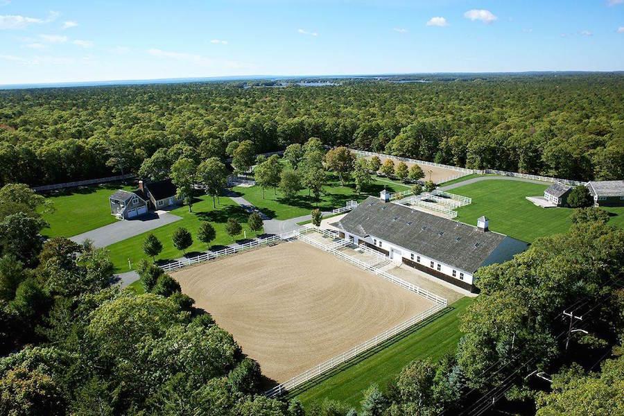 Designed around equestrian pursuits, Red Horse Farm in Mashpee, Massachusetts, has the facilities to train champion horses.