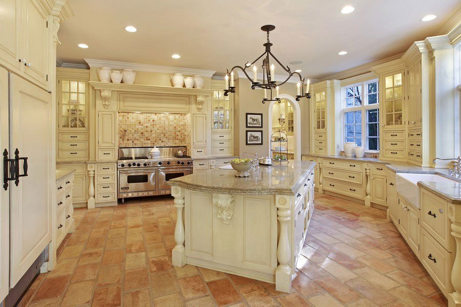 5 Bedrooms, 10,930 sq. ft.Custom French country stone estate on private acre lot