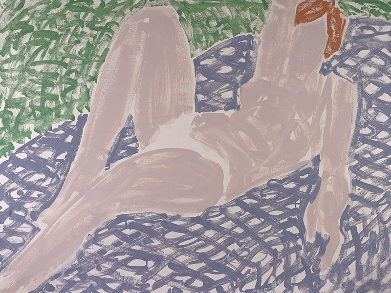 White Bikini, Mauve Spread by Stephen Pace, 1984, oil on canvas. Exhibitor: Berry Campbell, New York City, NY