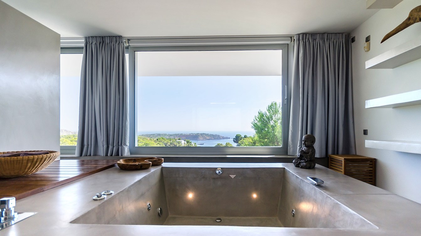 ... Es Cubells, And Porroig Beaches, Offers All The Creature Comforts Of A  Luxury Resort Without Ever Leaving Home. The Ultra Modern Spa Inspired  Bathroom ...