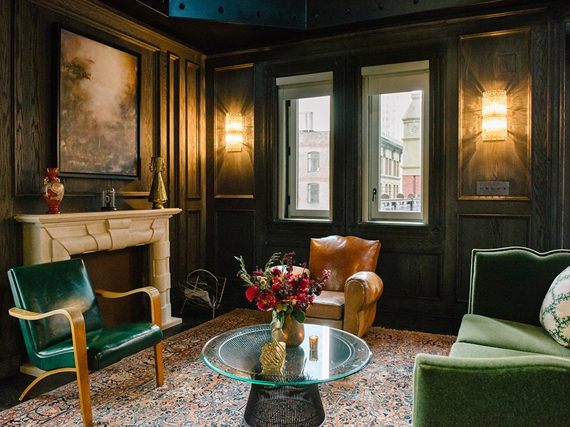 The Turret Penthouses in New York City's iconic The Beekman hotel have private entrances, rooftop terraces, and views of City Hall Park.