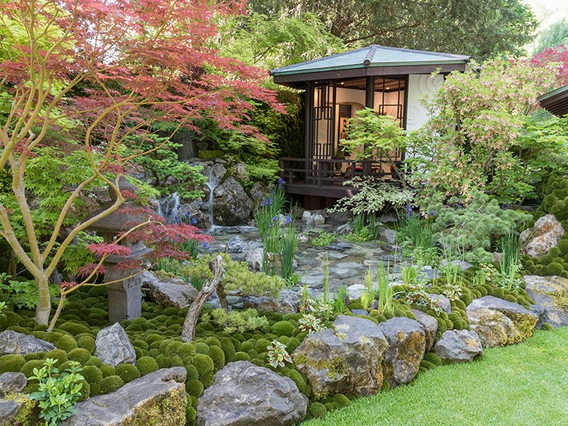 Kazuyuki Ishihara won the Best Artisan Garden award for his creation, O-me-te-na-shi no NIWA—The Hospitality Garden, at the 2018 Chelsea Flower Show.
