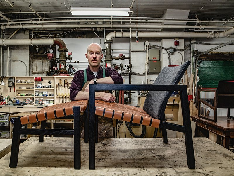 Christopher Solar made the leap from tech guy to craftsman 12 years ago. His furniture designs are classic, but he insists that they are not retro. Photograph: Robin Stubbert
