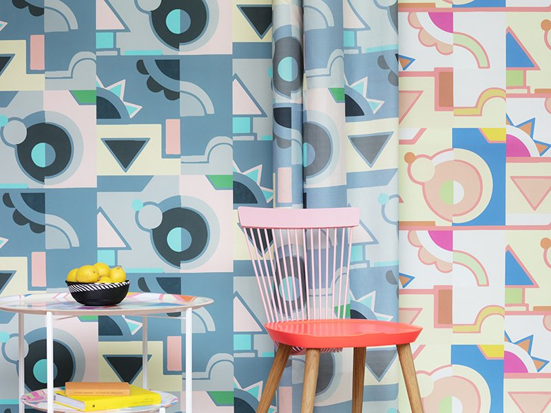 Bold wallpaper is designed to make people feel better—inspired by Lisa Todd's training as a color therapist.