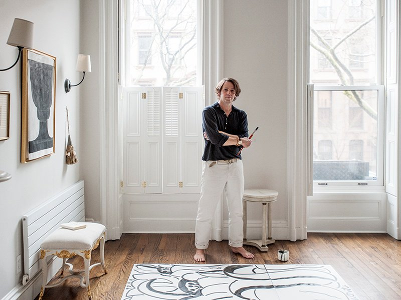 Wayne Pate in his New York home—his next collection is likely to be inspired by Paris, where he is living for a year. Photograph: Brittany Ambridge.
