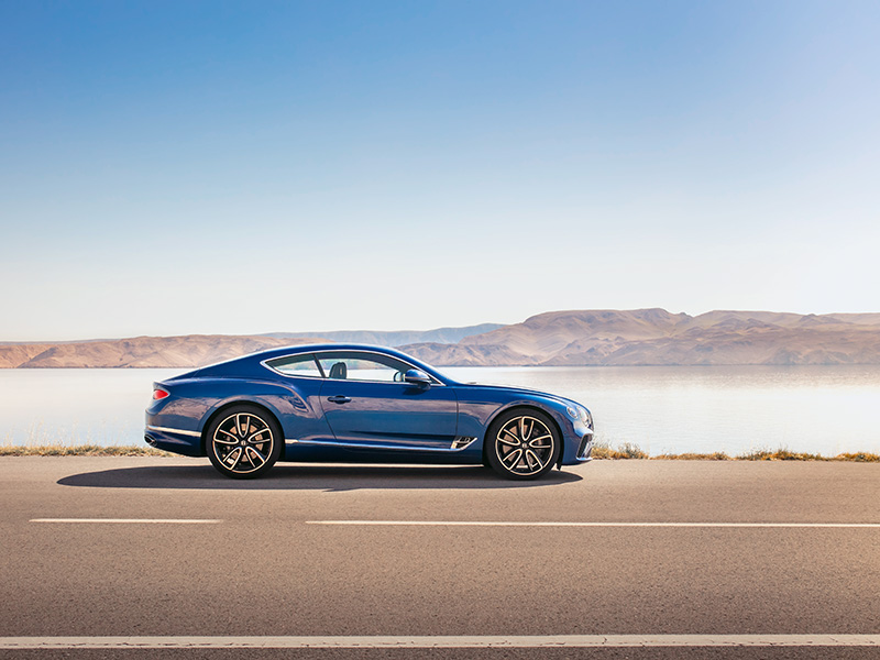 Bentley Continental GT on the road