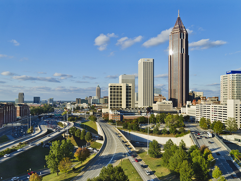 Atlanta USA city skyscrapers