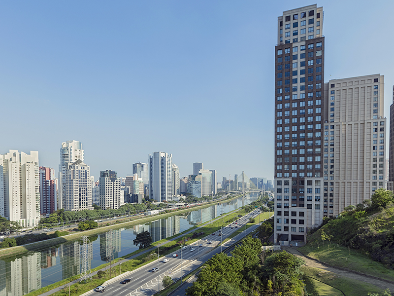 Sao Paolo city water high rise