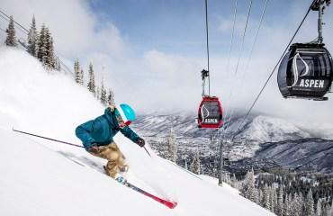 Aspen skiing snowboard snow trees