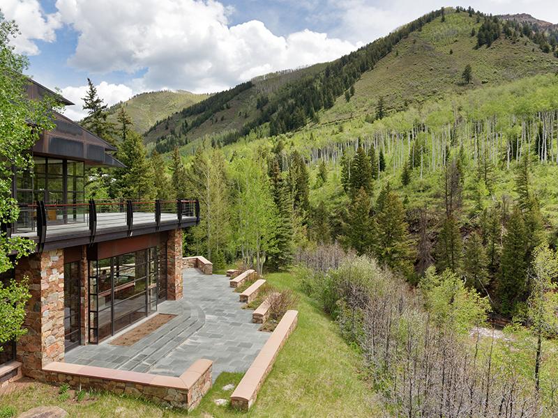 Aspen property CastleCreek hillside