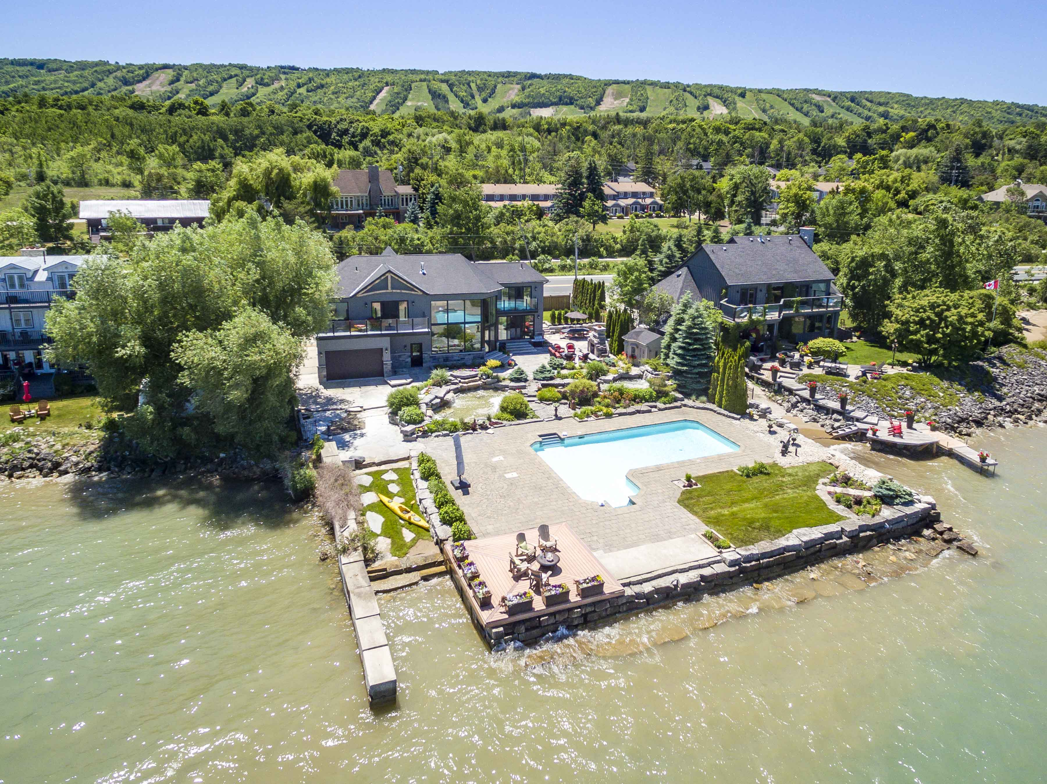 Blue Mountain Waterfront Home