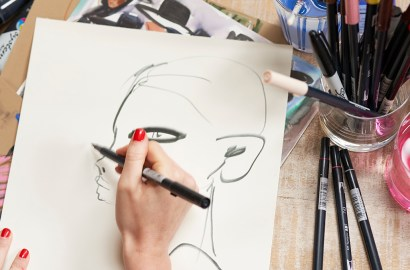 In the Studio with Fashion Illustrator Blair Breitenstein