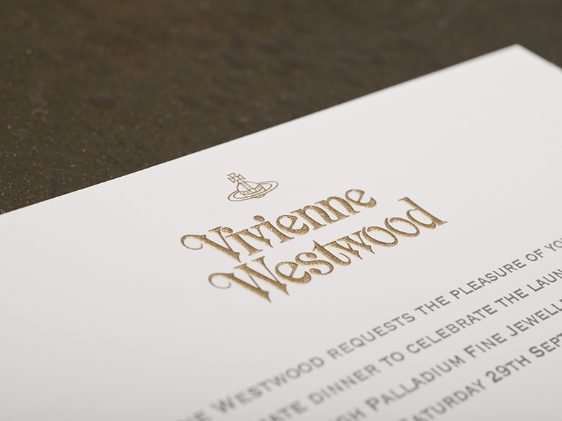 Invite to Vivienne Westwood event by Barnard & Westwood