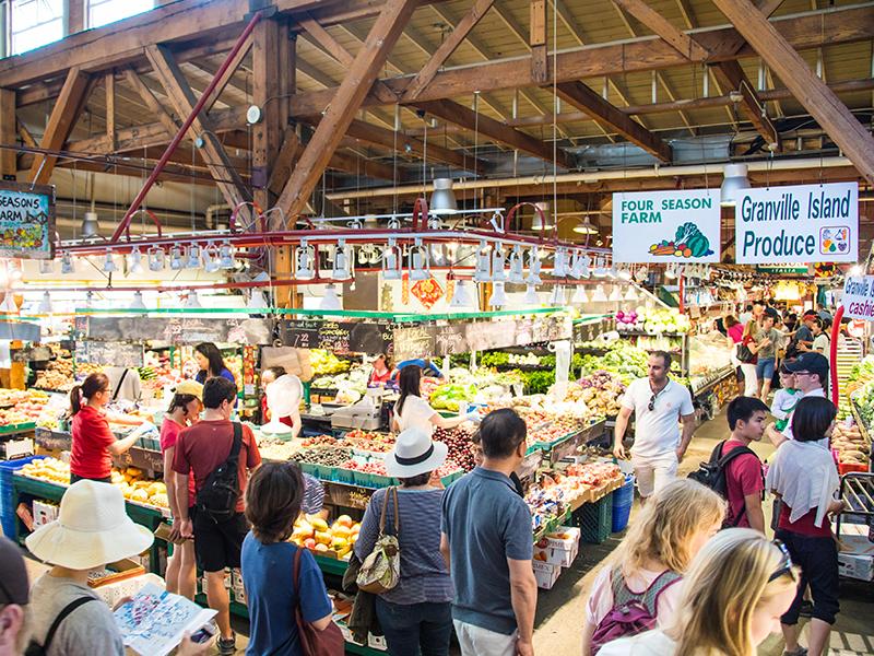 Vancouver-Granville-public-market-vegetables-people