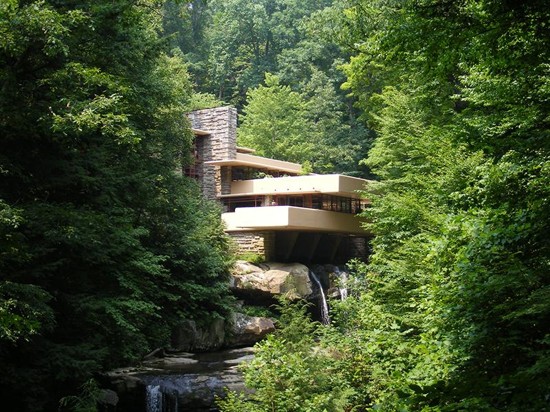 Fallingwater house by architect Frank Lloyd Wright
