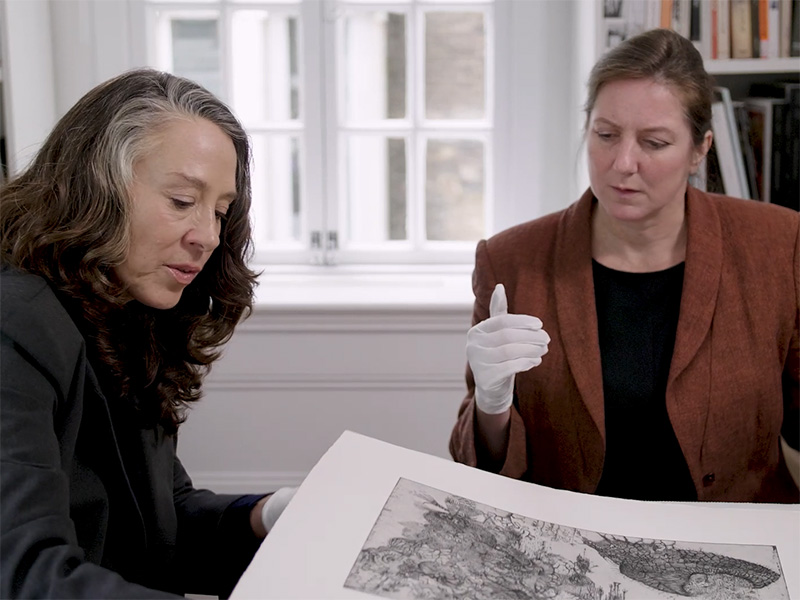 Christie's Education lecturer Lizzie Perrotte and Jacqui Ansell