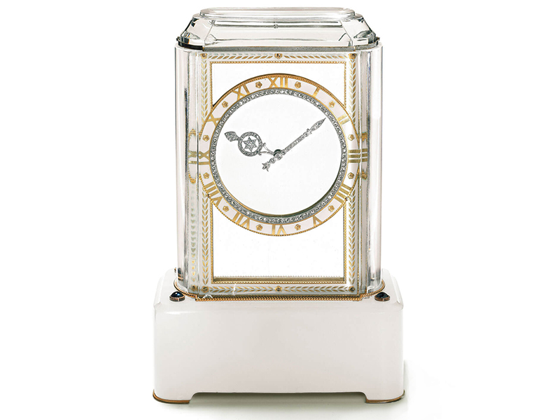 The first mystery clock created by Cartier, the Model A
